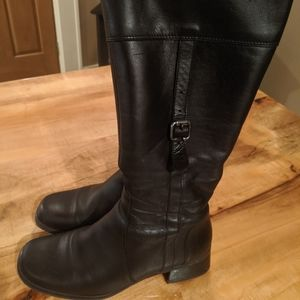 La Canadienne tall leather boots black 26494 8.5
